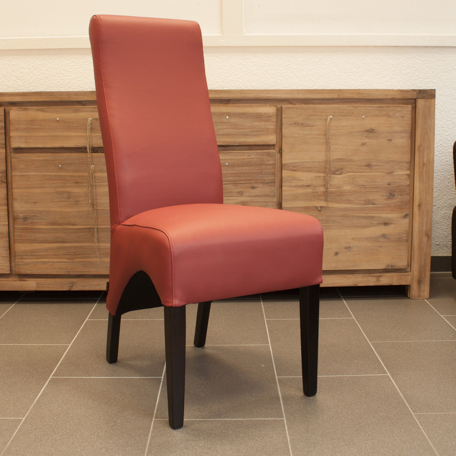 Lederstuhl Lederstühle Regina  Leder Rot ergonomischer ...