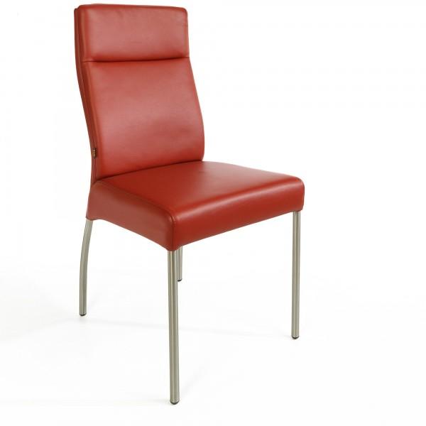 lederstuhl stuhl gatto rindsleder esszimmerstuhl polsterstuhl leder st hle rot ebay. Black Bedroom Furniture Sets. Home Design Ideas