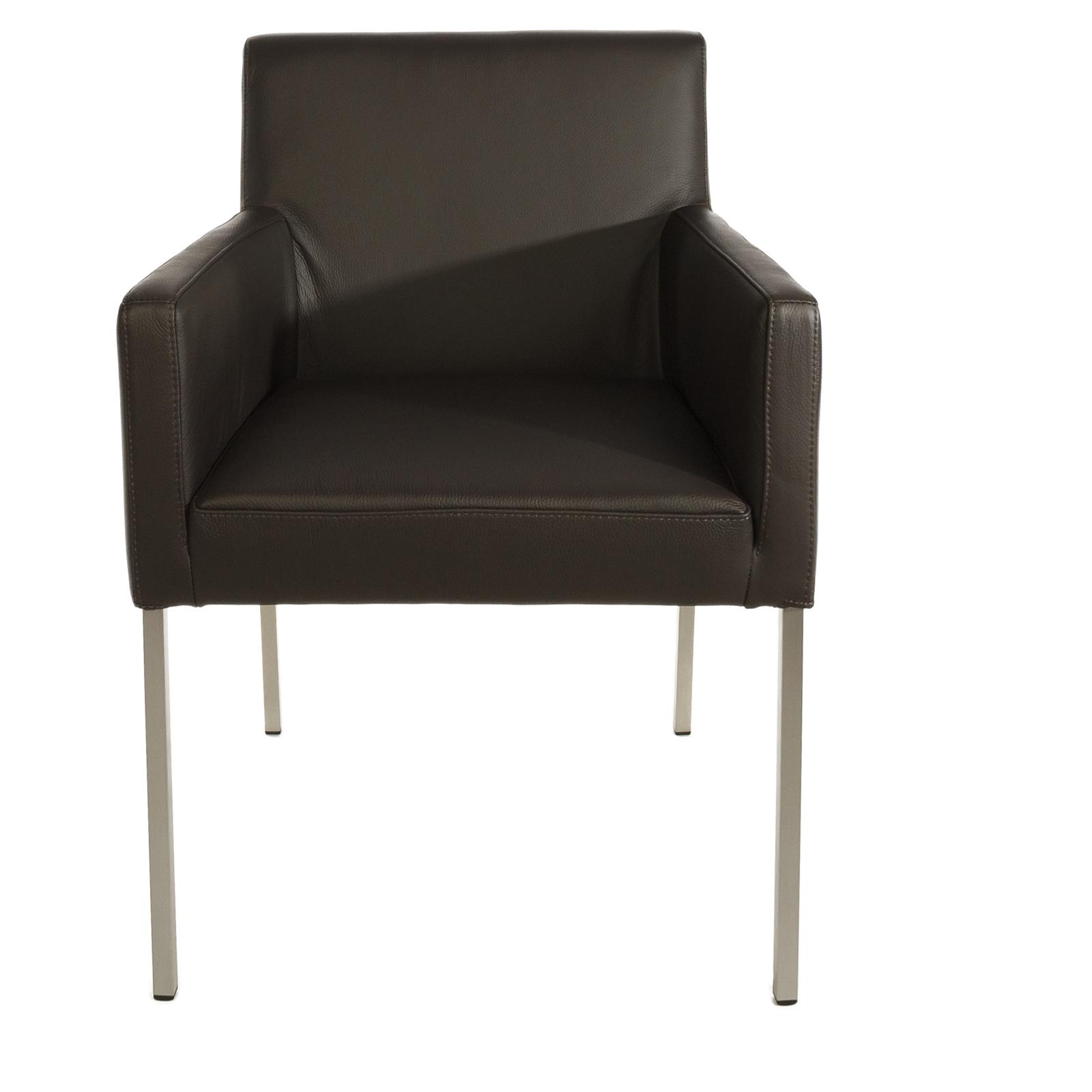 armlehnstuhl ledersessel nois braun. Black Bedroom Furniture Sets. Home Design Ideas