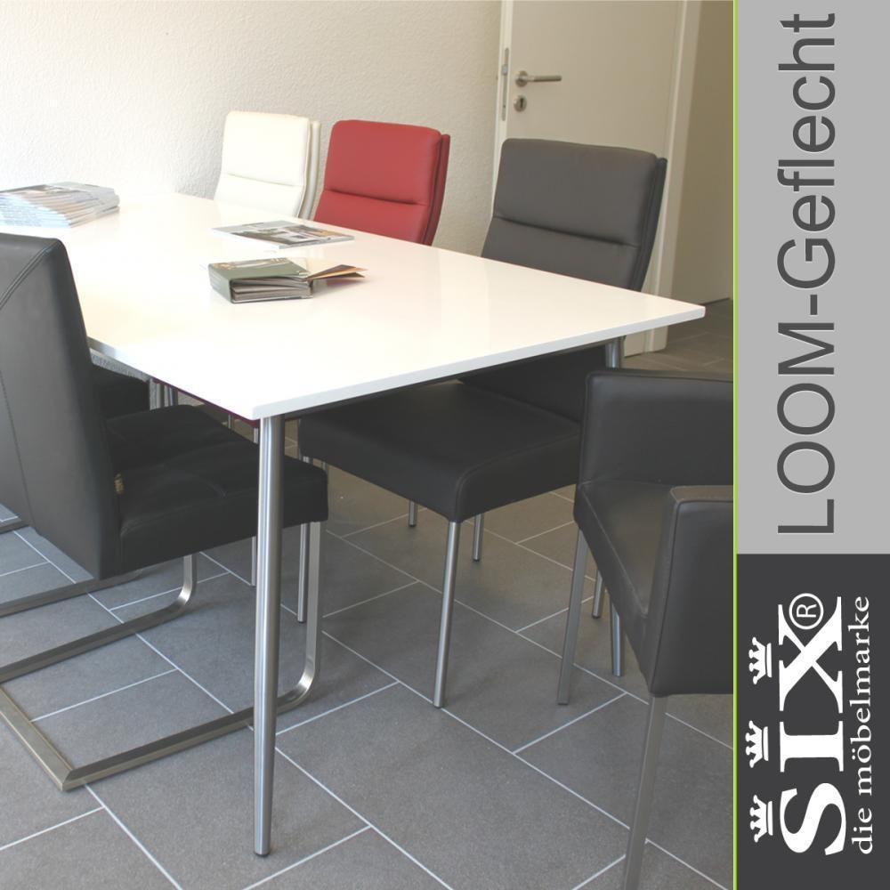 b rotisch esstisch legno weiss edelstahl. Black Bedroom Furniture Sets. Home Design Ideas