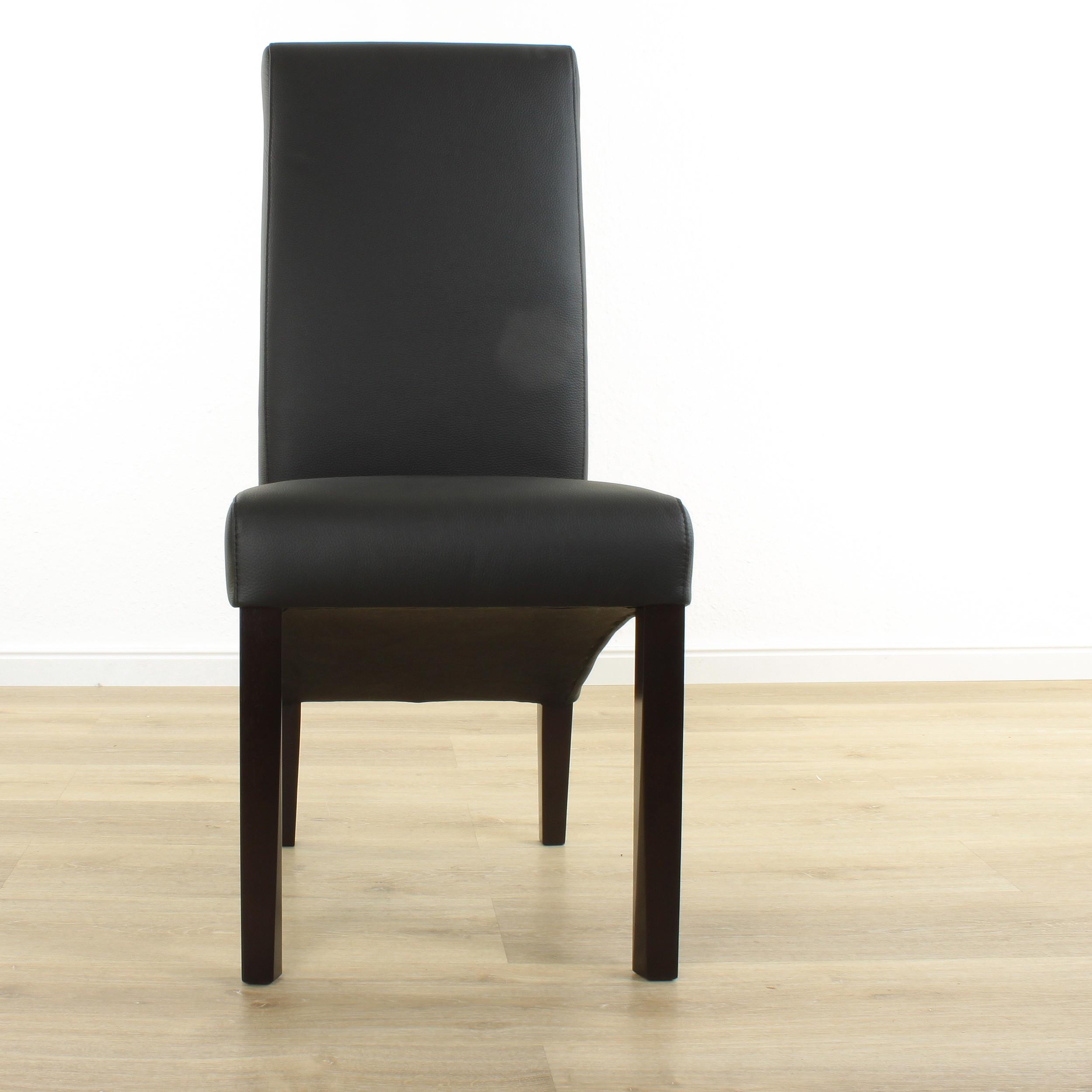 lederstuhl felice schwarz wenge. Black Bedroom Furniture Sets. Home Design Ideas