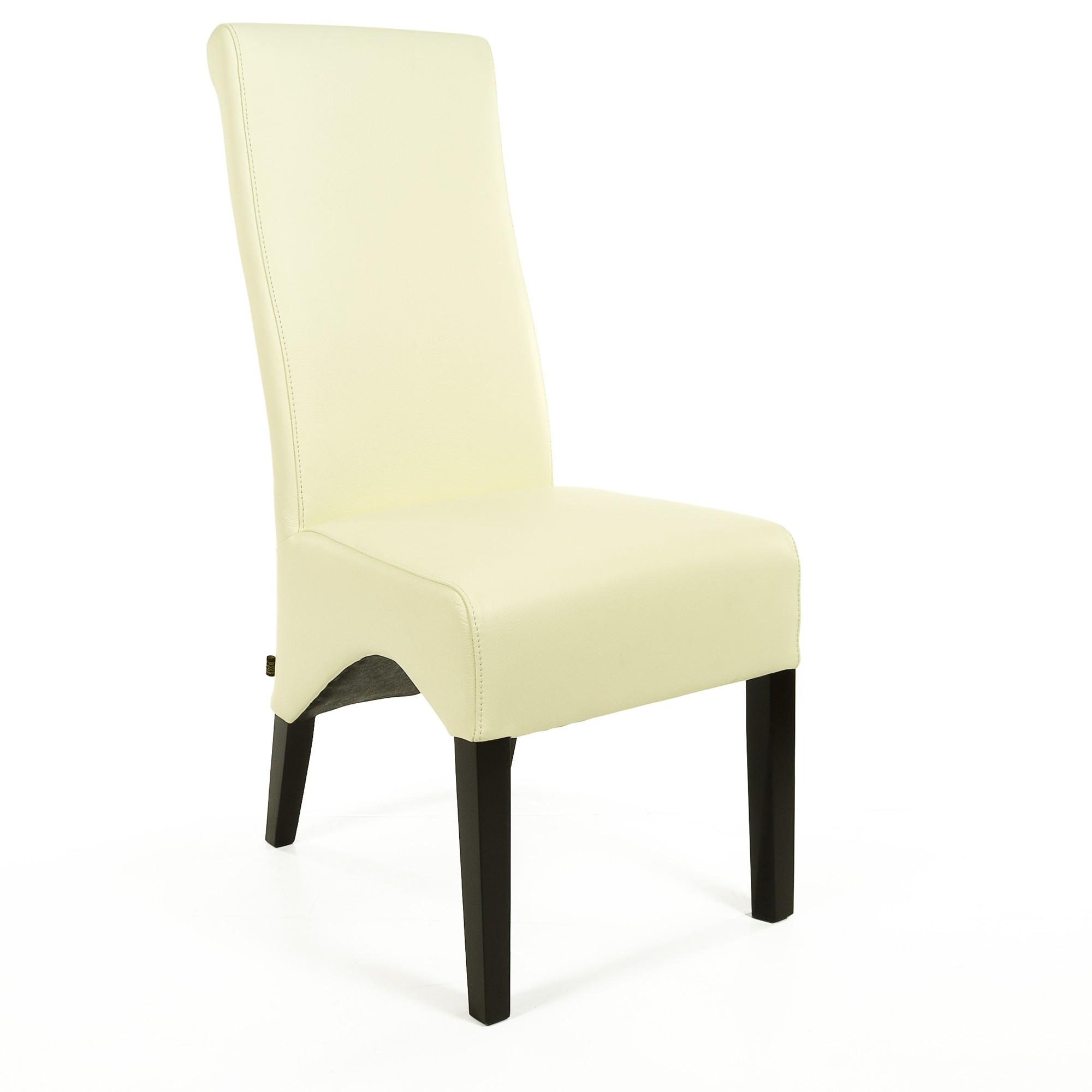 lederstuhl regina federkern creme wei wenge. Black Bedroom Furniture Sets. Home Design Ideas