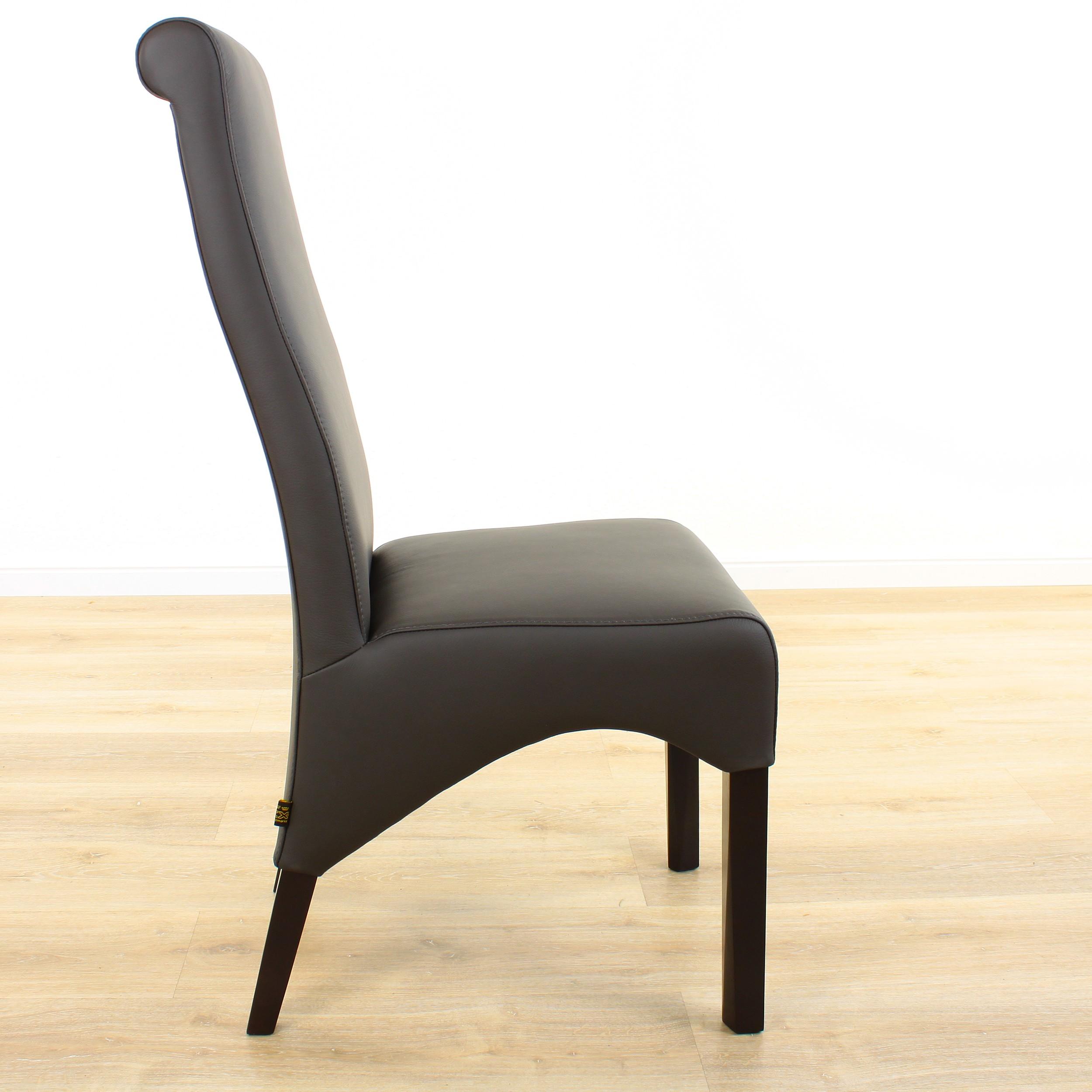 lederstuhl regina federkern schwarz wenge. Black Bedroom Furniture Sets. Home Design Ideas