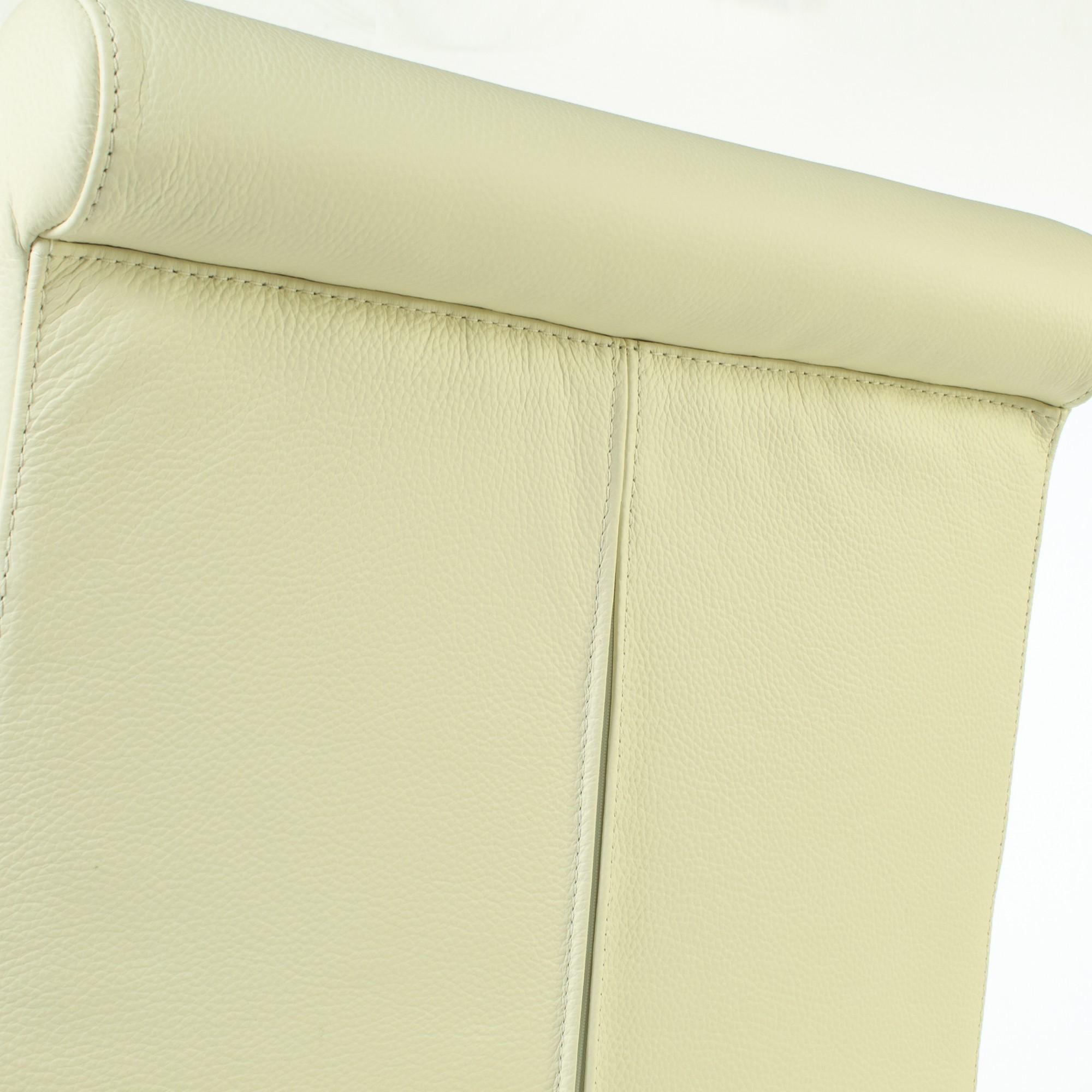 Lederstuhl Armlehnstuhl Galdo Creme Weiß Wenge # Lowboard Wenge Weiß