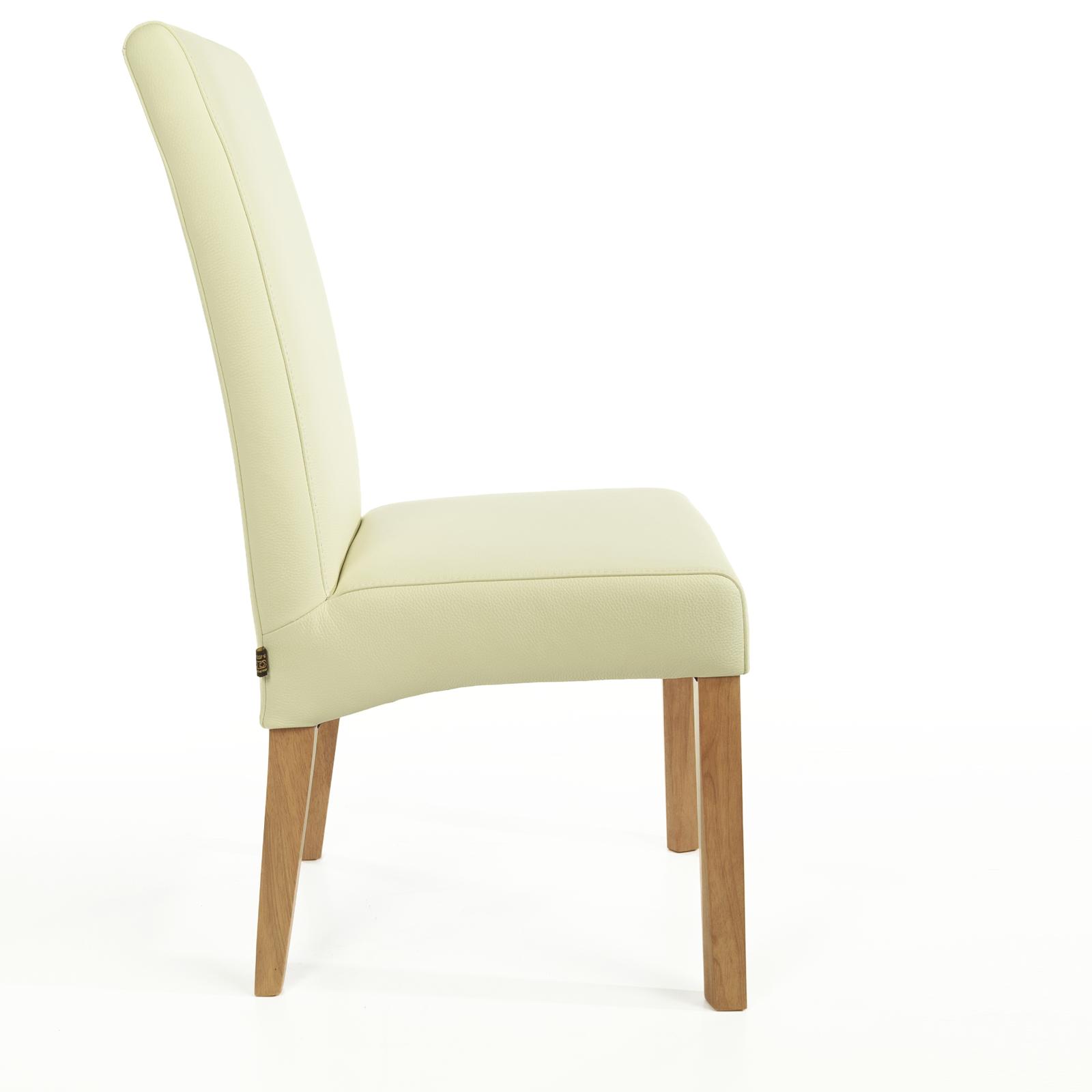 lederstuhl bambi creme wei eiche. Black Bedroom Furniture Sets. Home Design Ideas