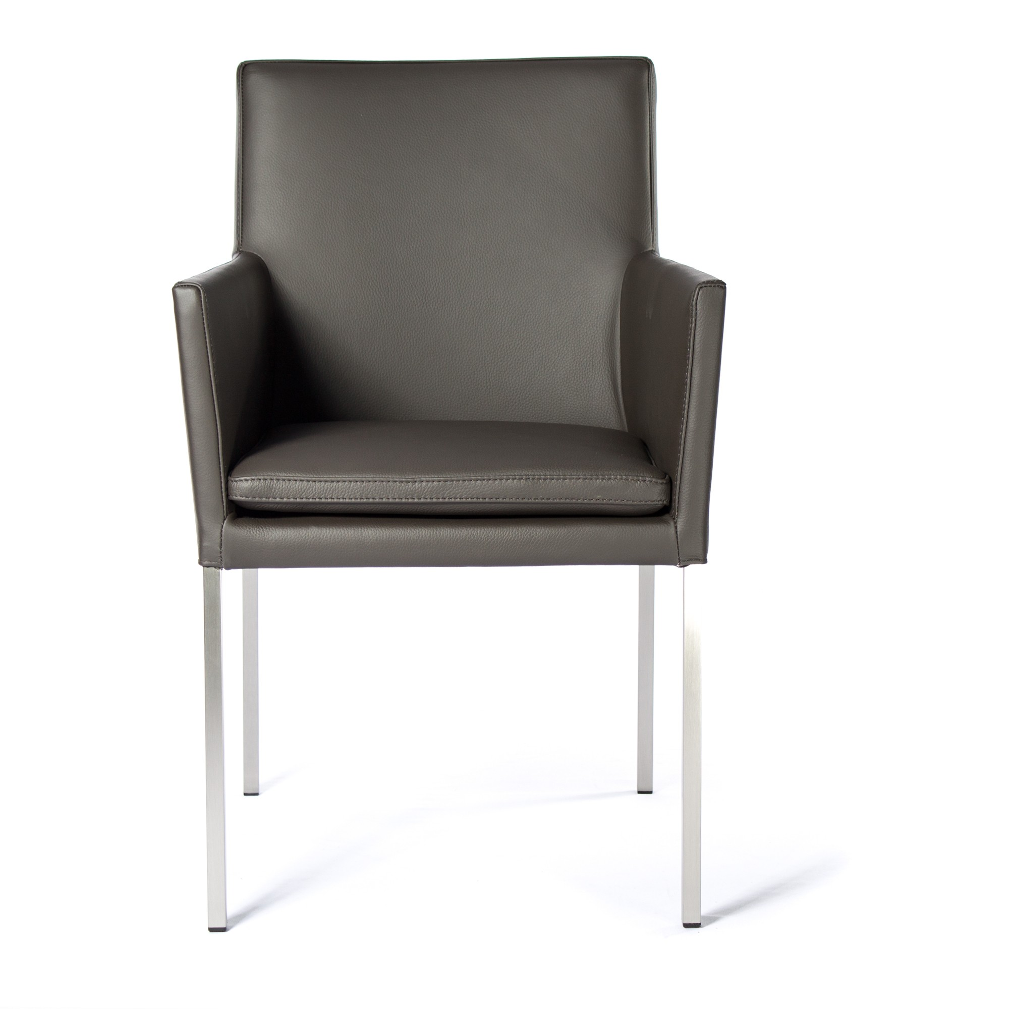 armlehnstuhl lederstuhl ledersessel stella dark braun. Black Bedroom Furniture Sets. Home Design Ideas