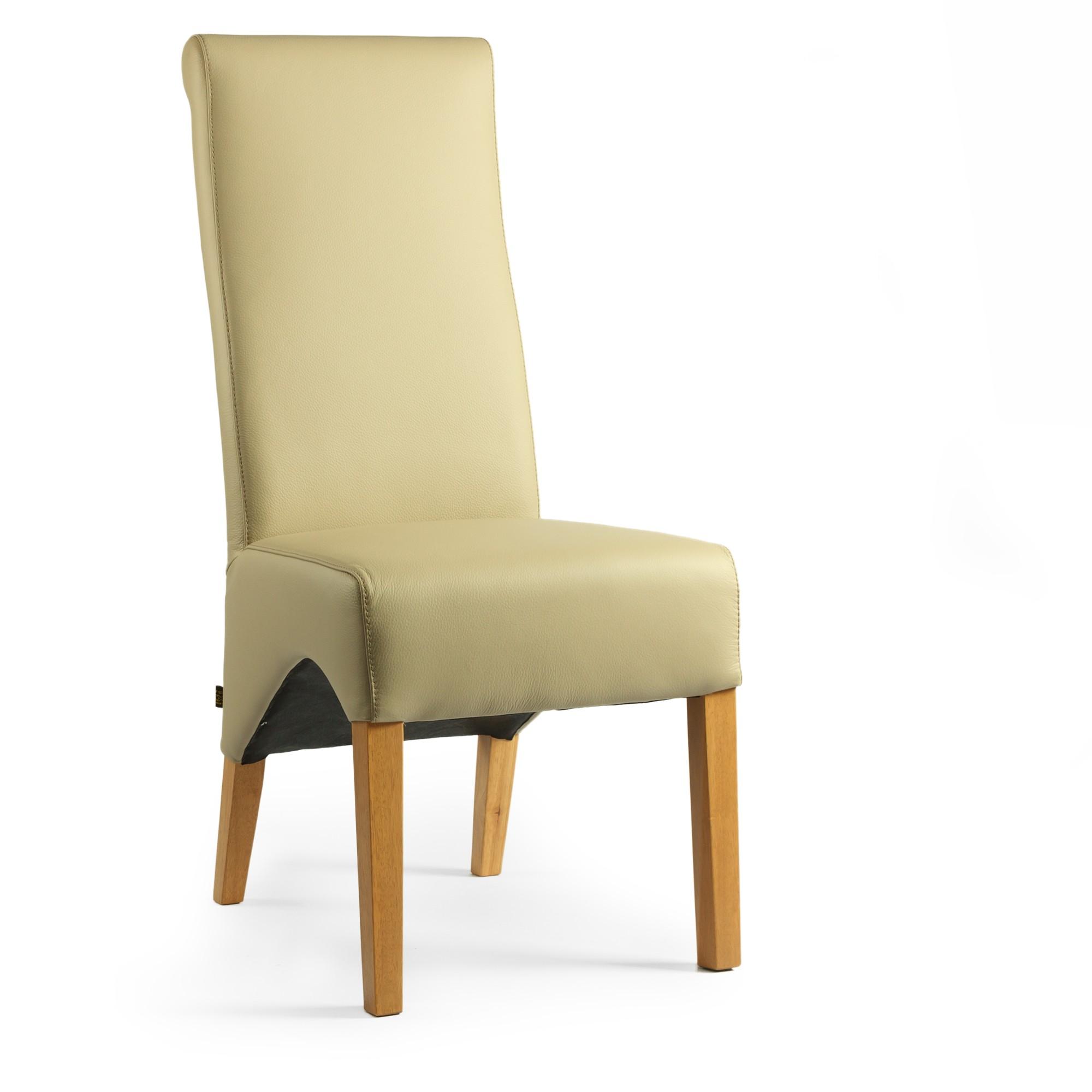 lederstuhl regina federkern light mocca eiche. Black Bedroom Furniture Sets. Home Design Ideas
