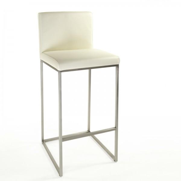 barhocker cuci rindsleder weiss edelstahl. Black Bedroom Furniture Sets. Home Design Ideas