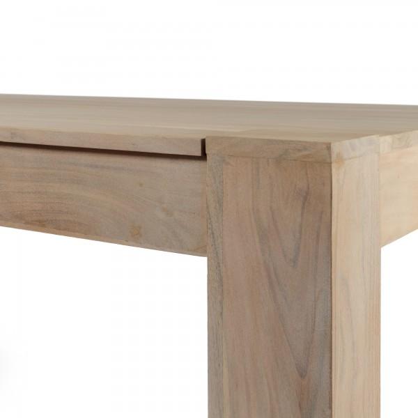 Esstisch Massivholz Reduziert : Esstisch Massivholz Akazie White Washed 160×90 – Bild 3